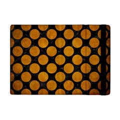 Circles2 Black Marble & Yellow Grunge (r) Ipad Mini 2 Flip Cases