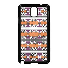 Purple And Brown Shapes                            Samsung Galaxy S5 Back Case (white) by LalyLauraFLM