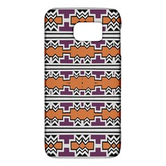 Purple And Brown Shapes                            Samsung Galaxy S6 Hardshell Case by LalyLauraFLM