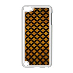 Circles3 Black Marble & Yellow Grunge Apple Ipod Touch 5 Case (white) by trendistuff