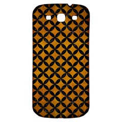 Circles3 Black Marble & Yellow Grunge Samsung Galaxy S3 S Iii Classic Hardshell Back Case by trendistuff