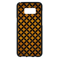 Circles3 Black Marble & Yellow Grunge Samsung Galaxy S8 Plus Black Seamless Case by trendistuff