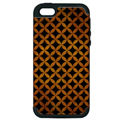 Circles3 Black Marble & Yellow Grunge (r) Apple Iphone 5 Hardshell Case (pc+silicone) by trendistuff