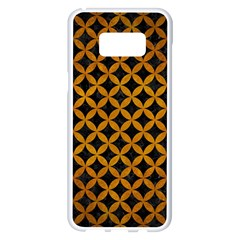 Circles3 Black Marble & Yellow Grunge (r) Samsung Galaxy S8 Plus White Seamless Case by trendistuff