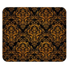 Damask1 Black Marble & Yellow Grunge (r) Double Sided Flano Blanket (small)  by trendistuff