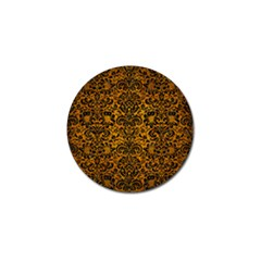 Damask2 Black Marble & Yellow Grunge Golf Ball Marker (4 Pack) by trendistuff