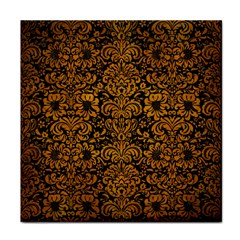 Damask2 Black Marble & Yellow Grunge (r) Face Towel by trendistuff