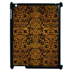 Damask2 Black Marble & Yellow Grunge (r) Apple Ipad 2 Case (black) by trendistuff
