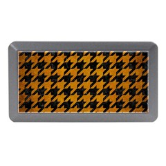 Houndstooth1 Black Marble & Yellow Grunge Memory Card Reader (mini)