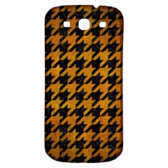 Houndstooth1 Black Marble & Yellow Grunge Samsung Galaxy S3 S Iii Classic Hardshell Back Case by trendistuff