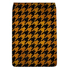 Houndstooth1 Black Marble & Yellow Grunge Flap Covers (l)  by trendistuff