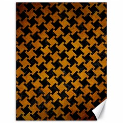 Houndstooth2 Black Marble & Yellow Grunge Canvas 18  X 24   by trendistuff