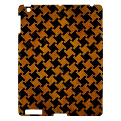 Houndstooth2 Black Marble & Yellow Grunge Apple Ipad 3/4 Hardshell Case by trendistuff