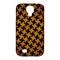 Houndstooth2 Black Marble & Yellow Grunge Samsung Galaxy S4 Classic Hardshell Case (pc+silicone) by trendistuff