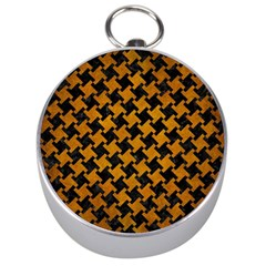 Houndstooth2 Black Marble & Yellow Grunge Silver Compasses by trendistuff