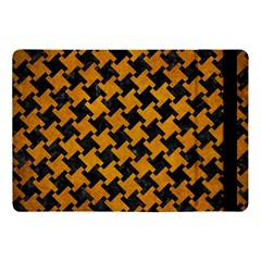 Houndstooth2 Black Marble & Yellow Grunge Apple Ipad Pro 10 5   Flip Case