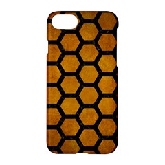 Hexagon2 Black Marble & Yellow Grunge Apple Iphone 7 Hardshell Case by trendistuff