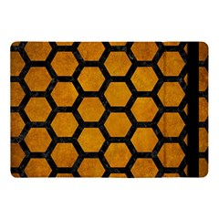 Hexagon2 Black Marble & Yellow Grunge Apple Ipad Pro 10 5   Flip Case