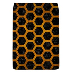 Hexagon2 Black Marble & Yellow Grunge (r) Flap Covers (l)  by trendistuff
