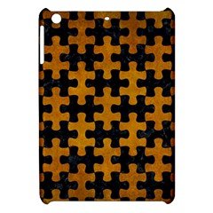 Puzzle1 Black Marble & Yellow Grunge Apple Ipad Mini Hardshell Case by trendistuff