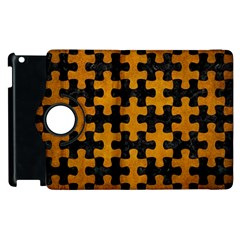 Puzzle1 Black Marble & Yellow Grunge Apple Ipad 2 Flip 360 Case by trendistuff