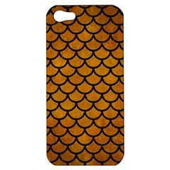 Scales1 Black Marble & Yellow Grunge Apple Iphone 5 Hardshell Case by trendistuff