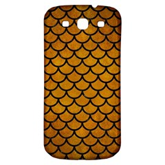 Scales1 Black Marble & Yellow Grunge Samsung Galaxy S3 S Iii Classic Hardshell Back Case by trendistuff