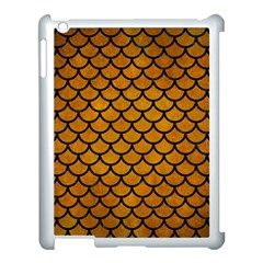 Scales1 Black Marble & Yellow Grunge Apple Ipad 3/4 Case (white) by trendistuff
