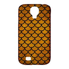 Scales1 Black Marble & Yellow Grunge Samsung Galaxy S4 Classic Hardshell Case (pc+silicone) by trendistuff
