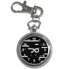 Line Circle Triangle Polka Sign Key Chain Watches by Mariart