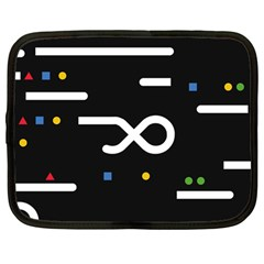 Line Circle Triangle Polka Sign Netbook Case (large) by Mariart