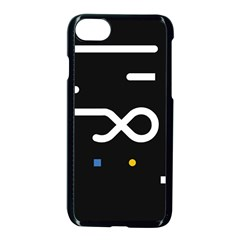 Line Circle Triangle Polka Sign Apple Iphone 8 Seamless Case (black)