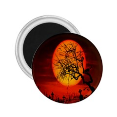 Helloween Midnight Graveyard Silhouette 2 25  Magnets by Mariart