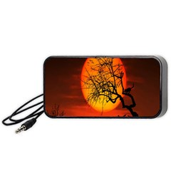 Helloween Midnight Graveyard Silhouette Portable Speaker by Mariart