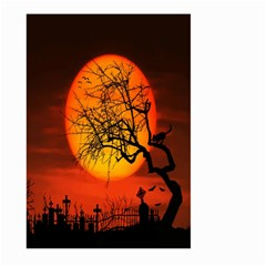 Helloween Midnight Graveyard Silhouette Large Garden Flag (two Sides) by Mariart