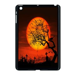 Helloween Midnight Graveyard Silhouette Apple Ipad Mini Case (black) by Mariart