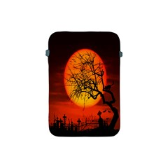Helloween Midnight Graveyard Silhouette Apple Ipad Mini Protective Soft Cases by Mariart