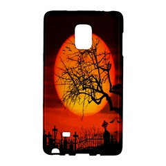 Helloween Midnight Graveyard Silhouette Galaxy Note Edge by Mariart