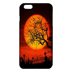 Helloween Midnight Graveyard Silhouette Iphone 6 Plus/6s Plus Tpu Case by Mariart