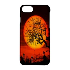 Helloween Midnight Graveyard Silhouette Apple Iphone 7 Hardshell Case by Mariart
