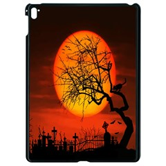Helloween Midnight Graveyard Silhouette Apple Ipad Pro 9 7   Black Seamless Case by Mariart