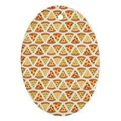 Food Pizza Bread Pasta Triangle Ornament (oval) by Mariart