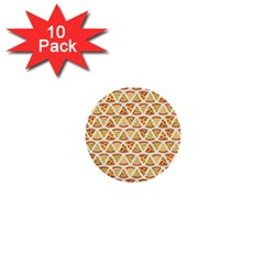 Food Pizza Bread Pasta Triangle 1  Mini Buttons (10 Pack)  by Mariart