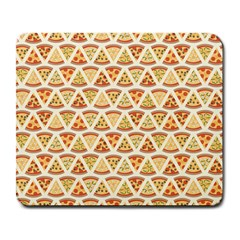 Food Pizza Bread Pasta Triangle Large Mousepads by Mariart
