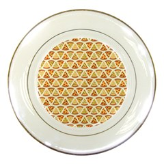 Food Pizza Bread Pasta Triangle Porcelain Plates by Mariart