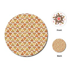 Food Pizza Bread Pasta Triangle Playing Cards (round)  by Mariart