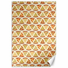 Food Pizza Bread Pasta Triangle Canvas 24  X 36  by Mariart