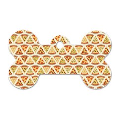 Food Pizza Bread Pasta Triangle Dog Tag Bone (one Side) by Mariart