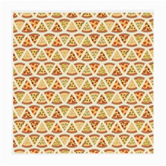 Food Pizza Bread Pasta Triangle Medium Glasses Cloth (2 Side) by Mariart