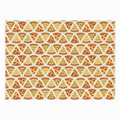 Food Pizza Bread Pasta Triangle Large Glasses Cloth by Mariart